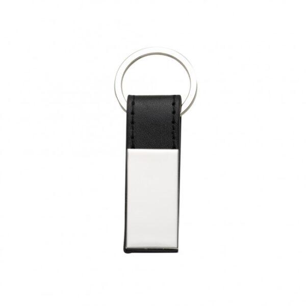 Chaveiro Metal com Couro - REF: 10026