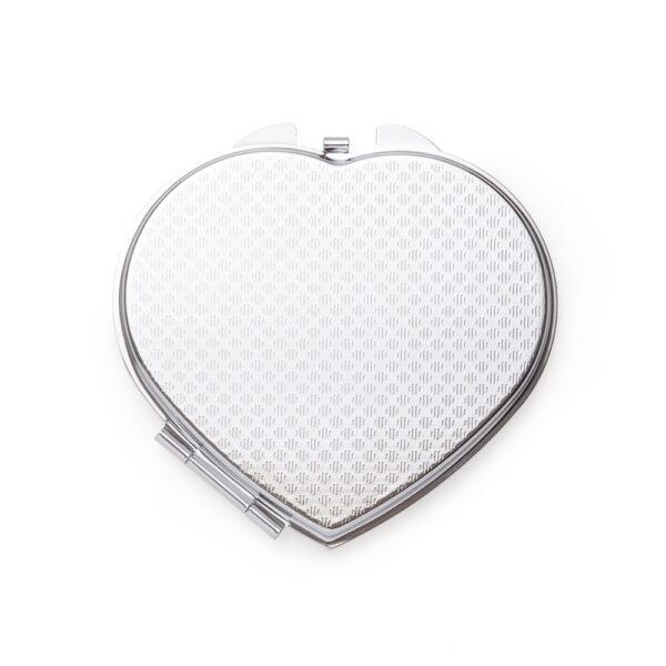 Espelho Metal Duplo Coração com Aumento - REF: 13516