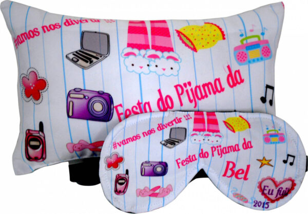 Almofada 20x30cm e Mascara de dormir Personalizadas - REF: 681909