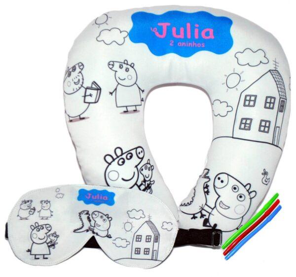 Almofada de pescoço e mascara de dormir para colorir - REF: 695259