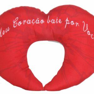 Almofada descanso de pescoço de coração personalizada (Estampa frente e verso) - REF: 729807