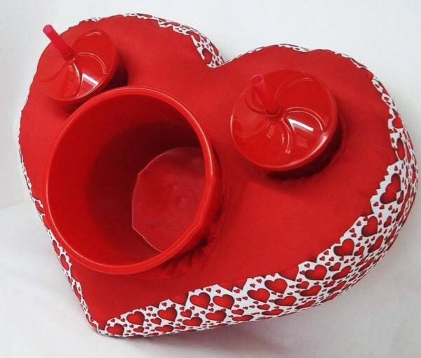 Almofada porta pipoca formato de Coração, personalizada - REF: 964107