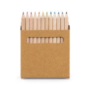 Caixa de cartão com 12 mini lápis de cor - REF: 91747