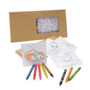 Kit para pintar em caixa de cartão - REF: 91755