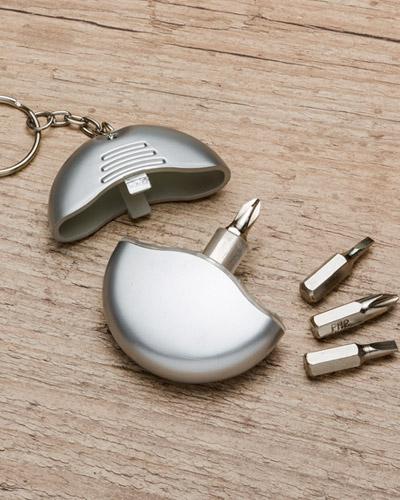Chaveiro com kit de ferramenta personalizado 4 peças - REF: CHV EFE-srv