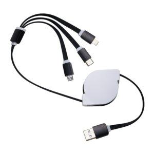 Cabo USB Retrátil 3 em 1 - Ref. 00338