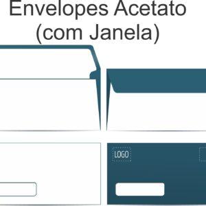 Envelopes ofício com janela de acetato - Ref. 516-PT