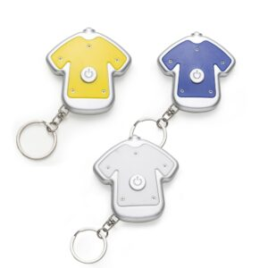 Chaveiro Lanterna Plástico em Formato de Camiseta - Ref. 12207
