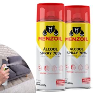 Álcool Spray 70% INPM Antisséptico Neutro Desinfetante Líquido Aerossol 300ml - Ref. 365-MZ