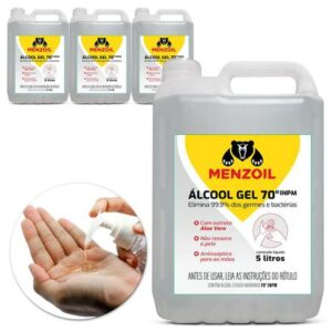 Álcool Gel 70% INPM Etílico Antisséptico Aloe Vera - Ref. 335-MZ