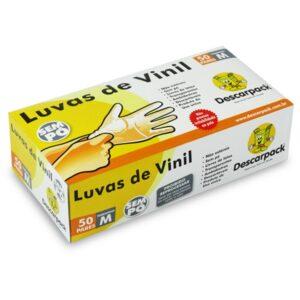 Luva Vinil Médica Descartável Tam.P CX C/100Un - Ref. 989-VS